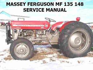massey ferguson mf 135 148 tractor workshop manual 495pg service rh ebay com mf 135 service manual free download mf 135 service manual pdf