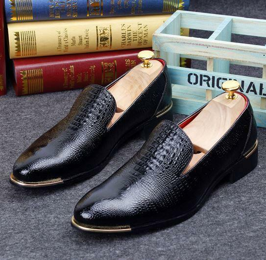 Mens oxford dress formal party slip on loafer leather casual shoes Moccasins new