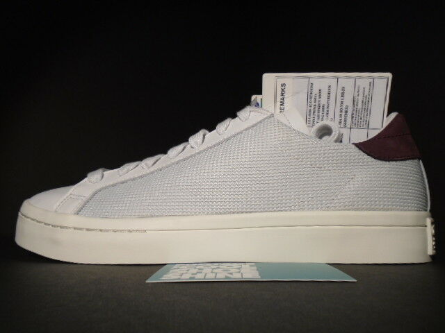 ADIDAS COURT VANTAGE REVAL MESH SALES SAMPLE VINTAGE WHITE MAROON RED S78761 9