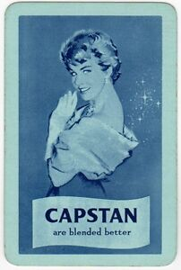 Playing Cards 1 Swap Card Old Vintage Wills CAPSTAN Cigarettes SMOKING Girl Lady - Bristol, United Kingdom - Playing Cards 1 Swap Card Old Vintage Wills CAPSTAN Cigarettes SMOKING Girl Lady - Bristol, United Kingdom
