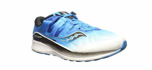 Saucony-Mens-Ride-Iso-White-Black-Blue-Running-Shoes-Size-12-2E-1510814