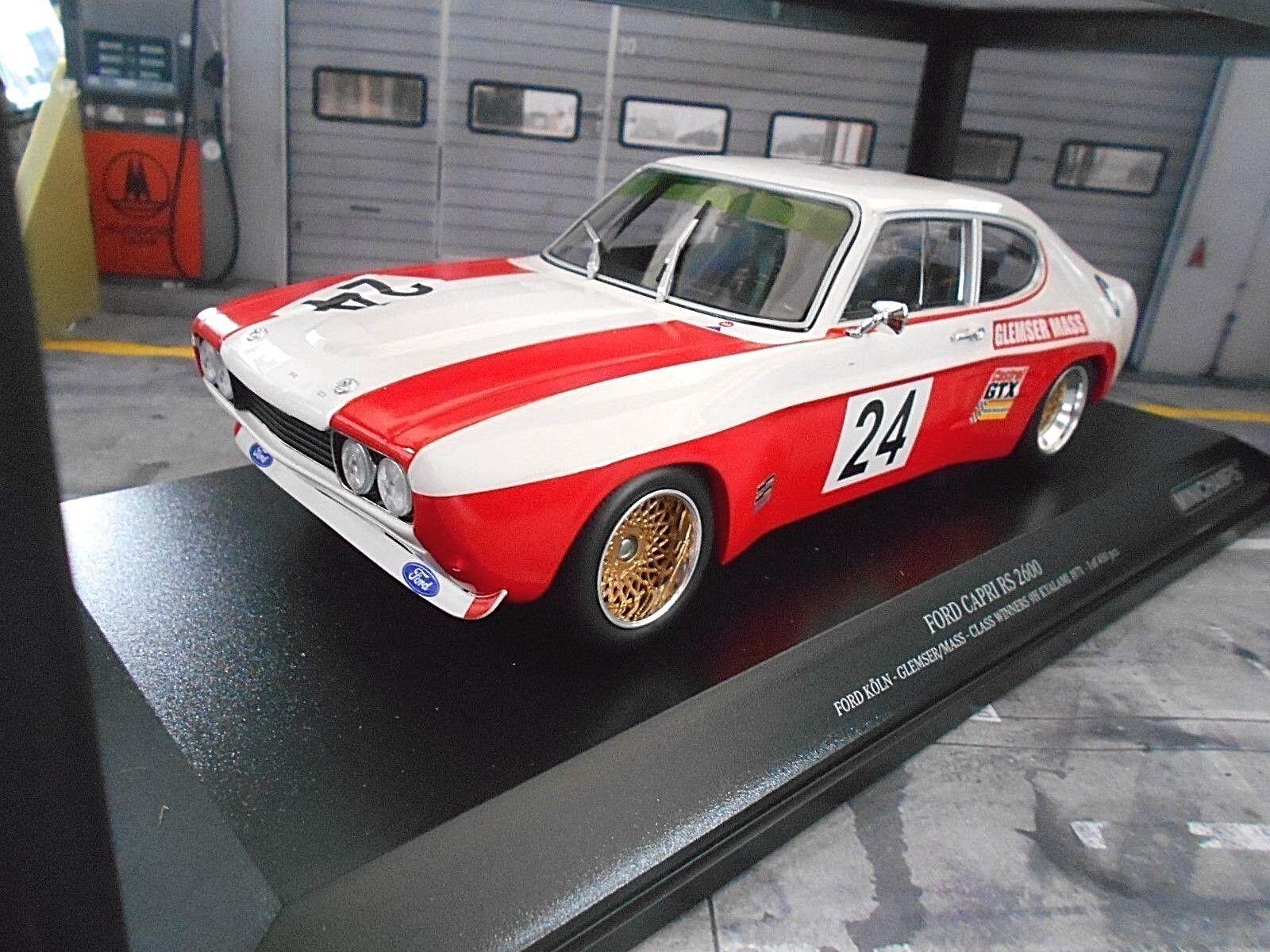 Ford Capri MkI RS 2600 rs2600 1971 Glemser Mass  24 Kyalami Cologne MINICHAMPS 1 18