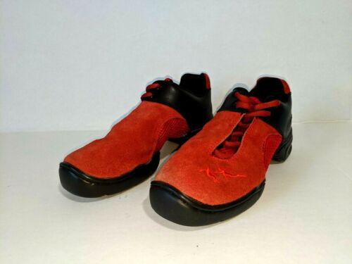 Very Fine Dance Sports Black Red Shoes Split Toe S