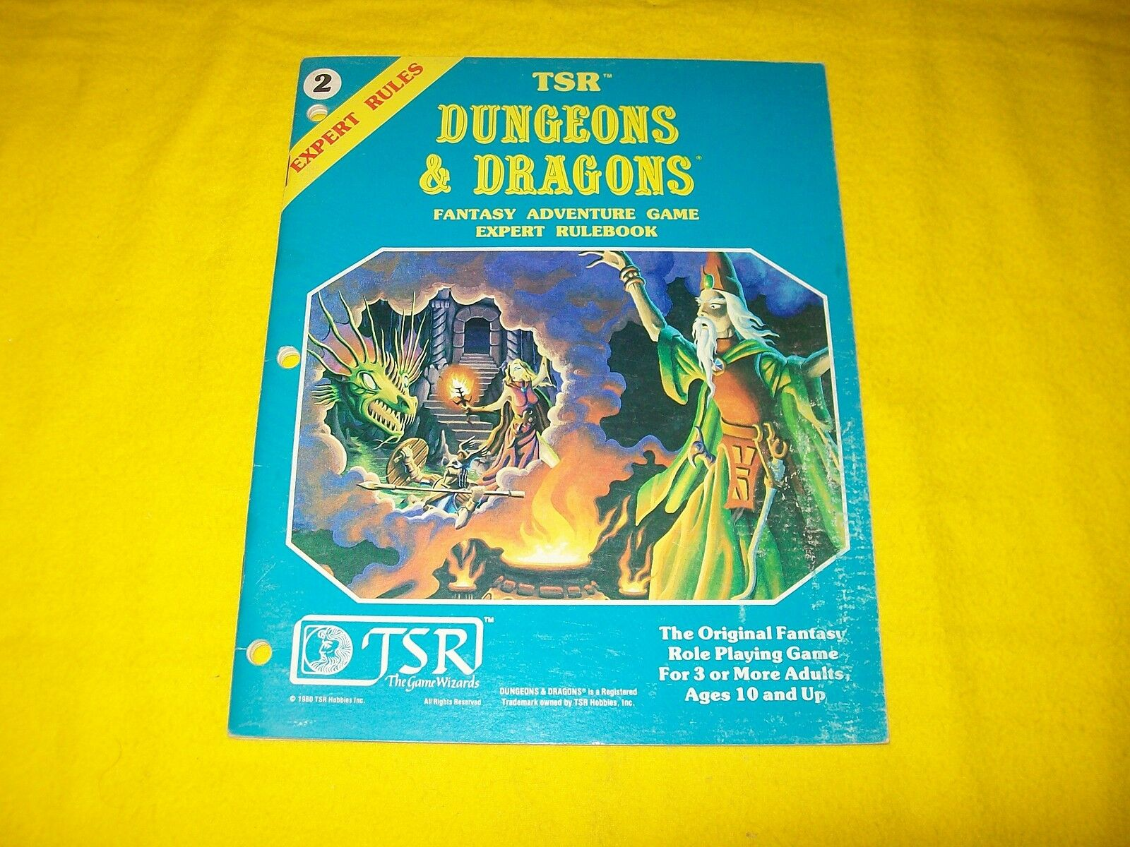 DUNGEONS & DRAGONS EXPERT RULEBOOK RULES - 2 FANTASY ADVENTURE GAME