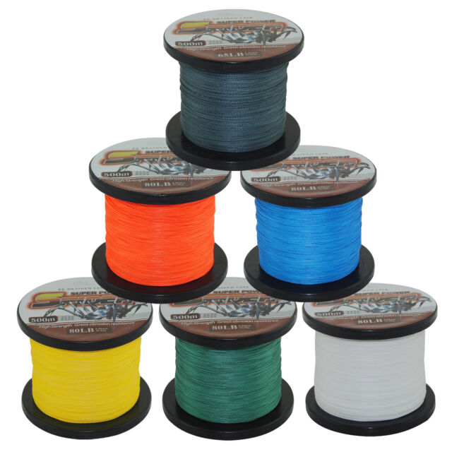 SuperPower 500M Dyneema Spectra PE Braided Fishing Line 12 - 80LB Various Colors