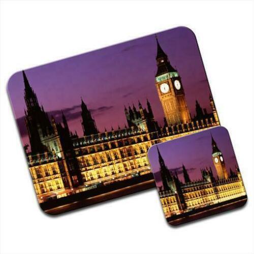 Pad /& Coaster Westminister Palace London City UK Mouse Mat