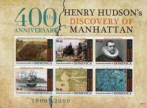 IngéNieux Dominique 2009 Neuf Sans Charnière Henry Hudson Discovery Manhattan 400th Anniv 6v M/s Timbres