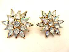 anciennes boucles d'oreille 80/90 étoiles strass vintage french earrings