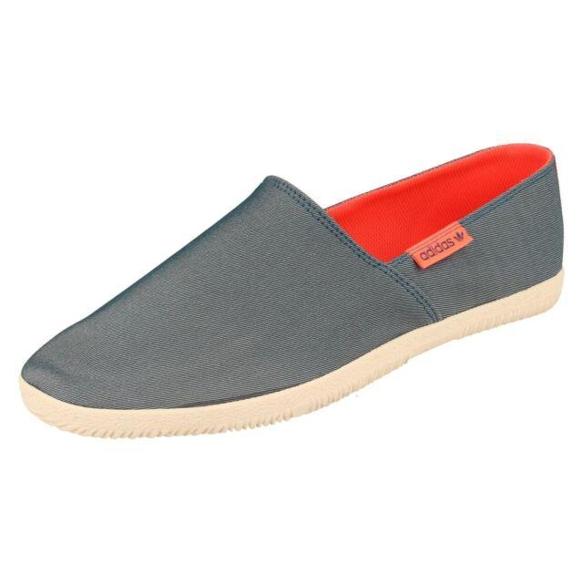 00b5a7e08bd6 Mens Blue Slip on Espadrille Canvas adidas Shoes D65798 Adidrill UK ...