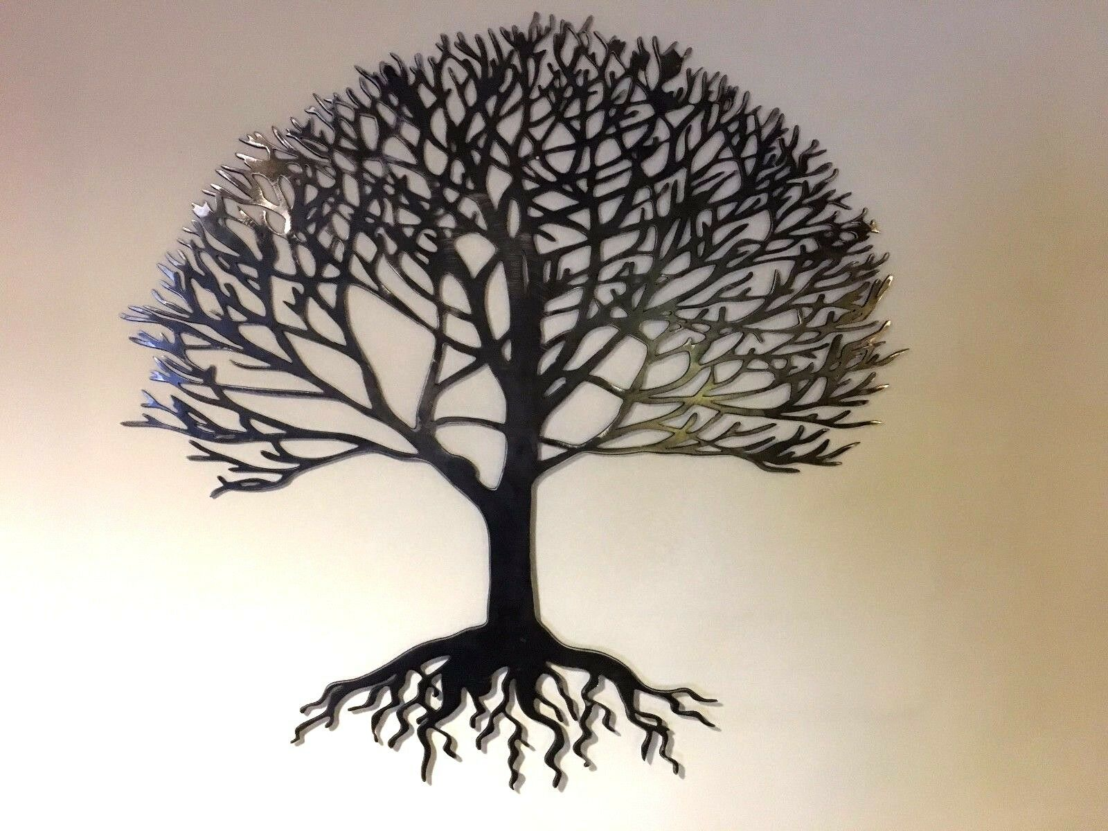 Steel Metal hand finished Tree of life wall art garden gift present many Größes