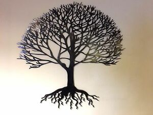 Image Is Loading Steel Metal Hand Finished Tree Of Life Wall