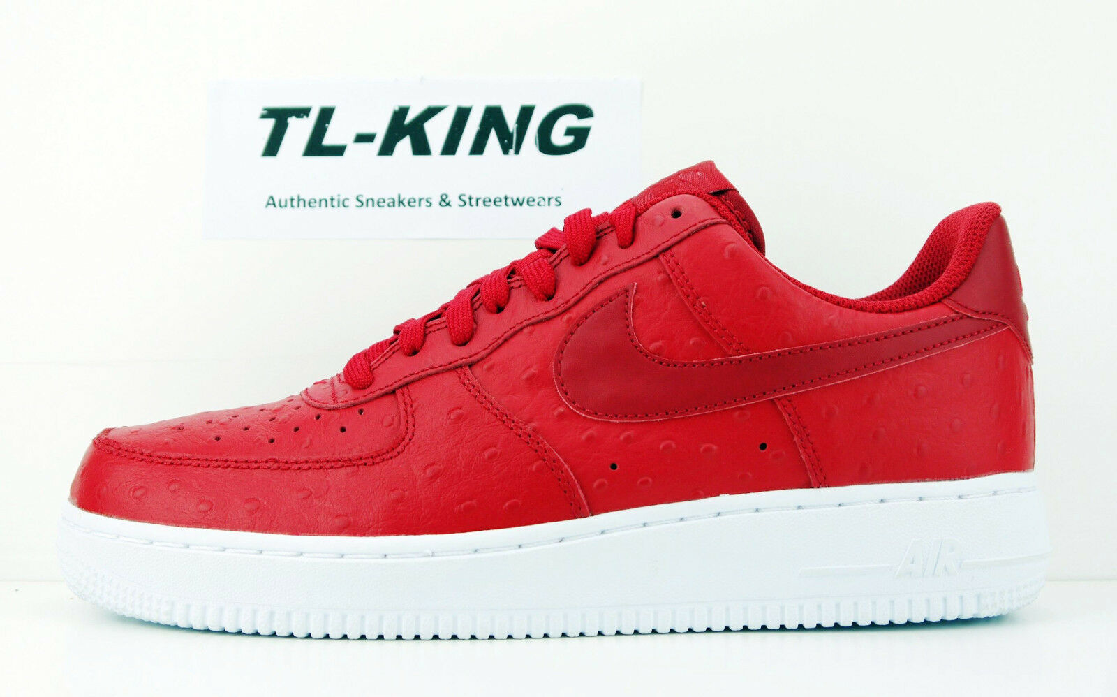 newest c4de4 f89ca on sale Nike Air Force 1 Low  07 LV8 Ostrich Gym Red White 718152-