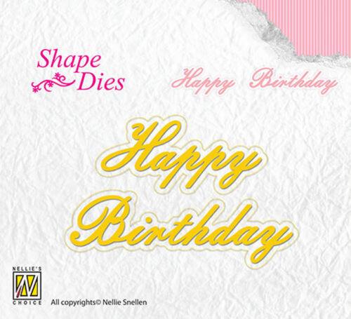 """Stanzschablone texto galería de símbolos de Nellie Snellen /""""cumpleaños feliz/"""" sd095"""