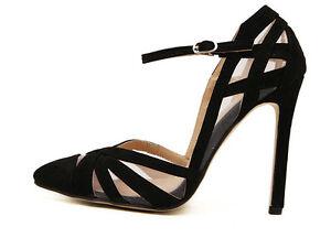 Décollte stiletto Schuhe decolte Sandale spillo 11.5 stiletto Décollte nero stiletto ... 3430a3