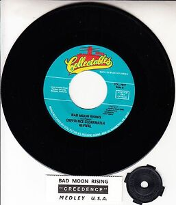 CREEDENCE-CLEARWATER-REVIVAL-Bad-Moon-Rising-amp-Medley-U-S-A-CCR-45-record-NEW