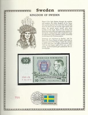 Tanzania Banknote 10 Shilingi 1978 P6b UNC  w\ UN FDI FLAG STAMP Prefix FZ