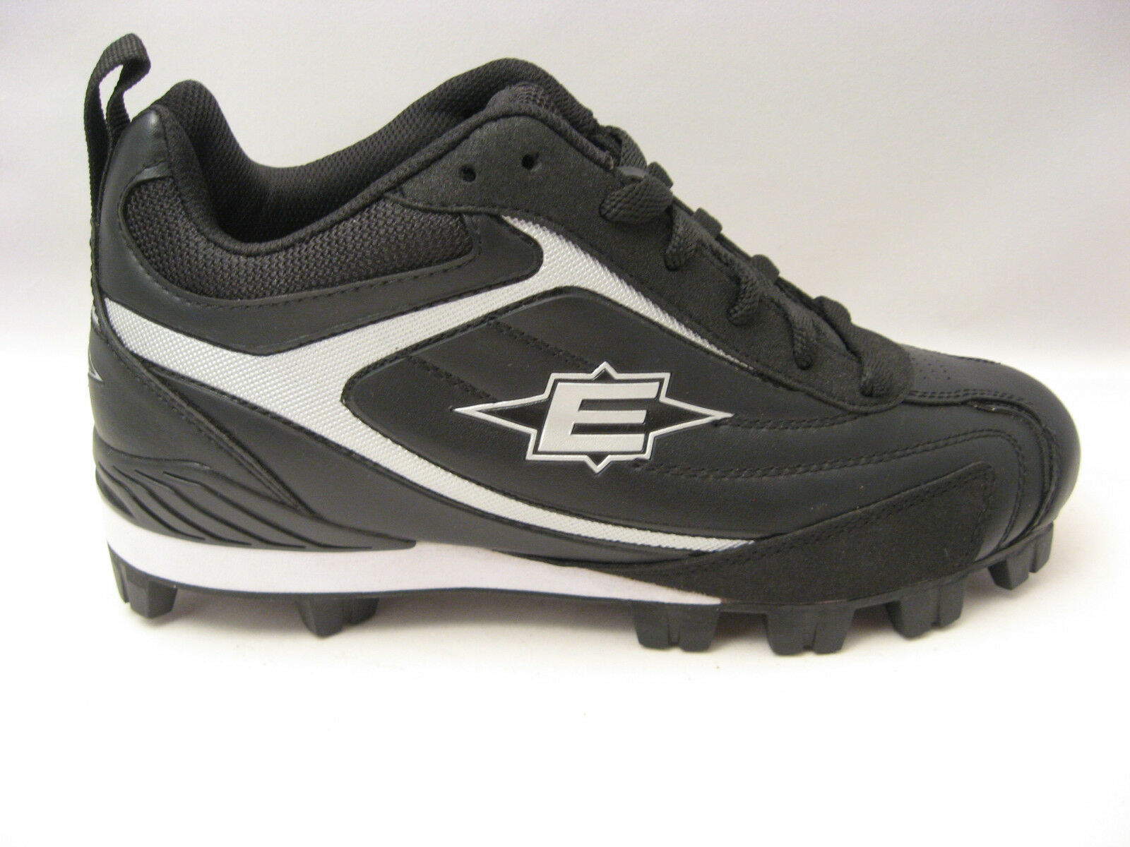 Easton Mens Redline II Mid Baseball & Softball Cleats Size 7.5 Black Silver NEW