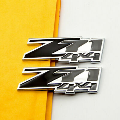 White 2Pcs Small Z71 Emblem 3D OFF ROAD Badge Nameplate Compatible for Chevy GMC Silverado Colorado Suburban Sierra Tahoe
