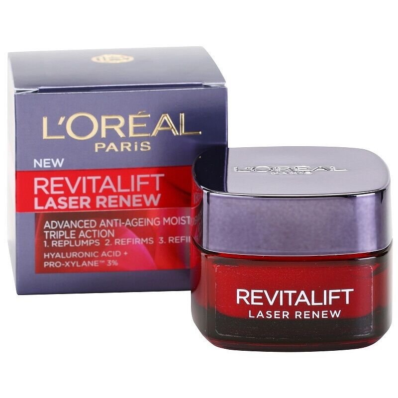 L'OREAL REVITALIFT LASER RENEW Day Face Cream Advanced Anti-Ageing Triple Action