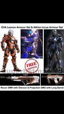 Halo 5 Dlc Eva Leonov, Projection SMG, Athlon Iccus Armor Set, Recon DMR. Xbox 1
