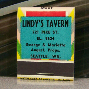 Vintage-Matchbook-M6-Washington-Seattle-George-Marietta-Lindy-Tavern-Pike-Street