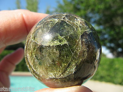 "1.57"" PINK AND GREEN APATITE SPHERE NATURAL CRYSTAL BALL QUEBEC CANADA 40mm"