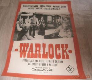 A1 Filmplakat  WARLOCK ,  RICHARD WIDMARK,HENRY FONDA,A. QUINN,DOROTHE MALONE