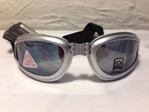Pugs Action Sport Goggles Polycarbonate Cylindrical Lenses UV400 GREY