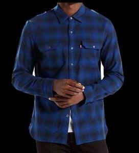 NWT-Men-039-s-Levi-039-s-Classic-Flannel-Work-Button-Down-Shirt-Choose-195730034-Blue