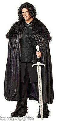 Jon Snow Game Of Thrones Night's Watch Cloak Adult Size Licensed 01254416