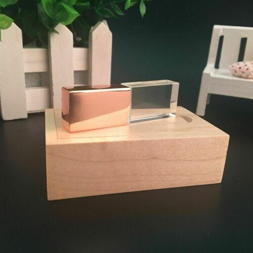 Wedding Custom Rose Gold Crystal USB Flash Drive Photo Box Storage Pendrive 32GB