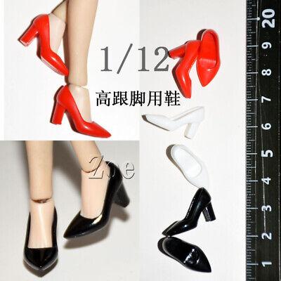 """1//6 White High-heel Shoes Model For 12/"""" Female Phicen JO TBLeagure Action Figure"""