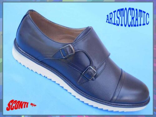 21d29527f05e2 Scarpe Prestige Eleganti Sportive Francesine Uomo Stile Blu Classiche  Inglese TrpO78T