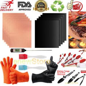 Humour 5 Type De Barbecue équipement -- Barbecue Grill Mat + Pince à Barbecue + Brosse + Thermomètre + Grill Glove-ermometer+grill Glove Fr-fr Afficher Le Titre D'origine