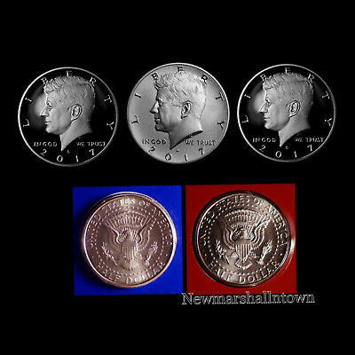 Clad AND  Silver Proof Kennedy Half Dollar Set-P D From Mint Set 2017 PDSS BU