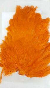 INDIA-SADDLE-034-HEN-SADDLE-1-034-ORANGE-Fly-Tying-Wet-Flies