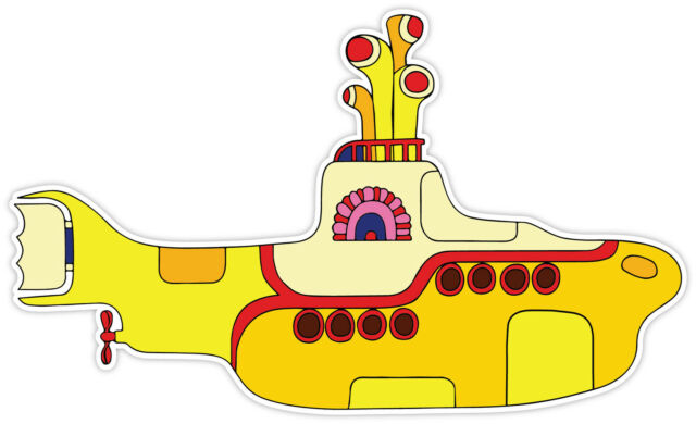 The Beatles Yellow Submarine  Sticker Decal *2 SIZES*  Vinyl Bumper Window Wall