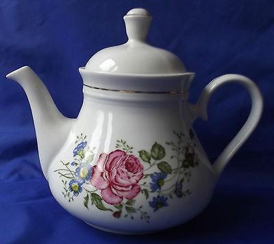 Tea pot Roses corn-flower pattern ZAJECAR Yugoslavia Very good condition