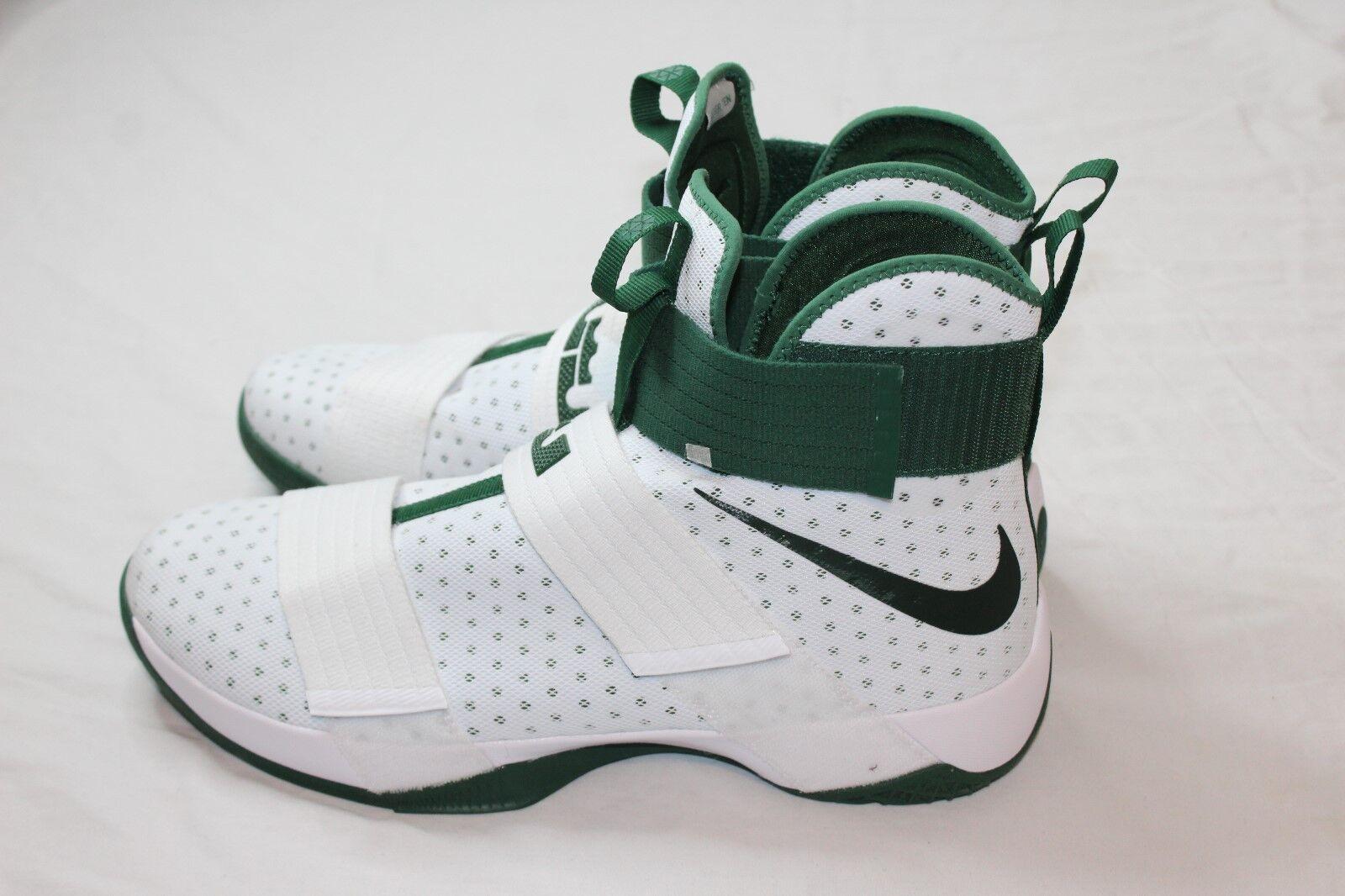 Nike LeBron Soldier 10  X 856489-130 White Green Size 16.5 Retail  130 New