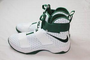 32c99d23e7e Nike LeBron Soldier 10 X 856489-130 White Green Size 16.5 Retail ...