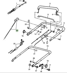 Genuine-John-Deere-JS63-Mower-3-Speed-Control-Cable-GC90045
