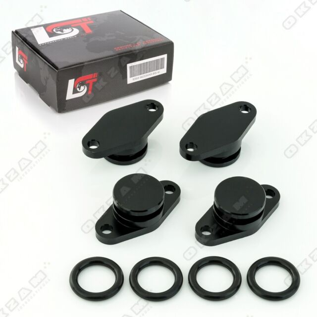 4x 22mm Aluminium Noir Spirale Clapet Remplacement + Torique Pour BMW X3 X5 Neuf