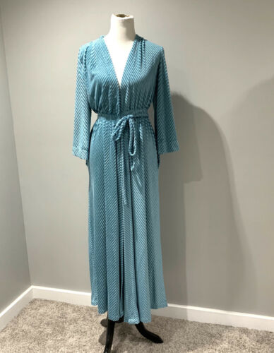 Vintage Miss Elaine Chenille Robe Womens Small Blu