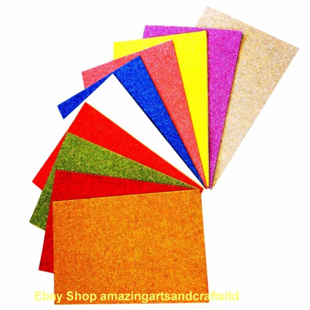 10 A4 Sheets of Craft film Assorted Designs /& Colours New