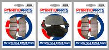 Honda CB 400 Super Four 92-95 Front & Rear Brake Pads Full Set (3 Pairs)
