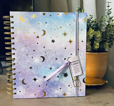 2021 Academic Planner Monthly 8x85 Purple Pink Blue Gold Stars Galaxy Tie Dye