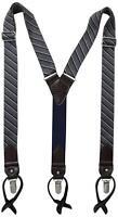 Men's Tommy Hilfiger Men's Vintage Look Suspenders Gray/blue 21tl61x018