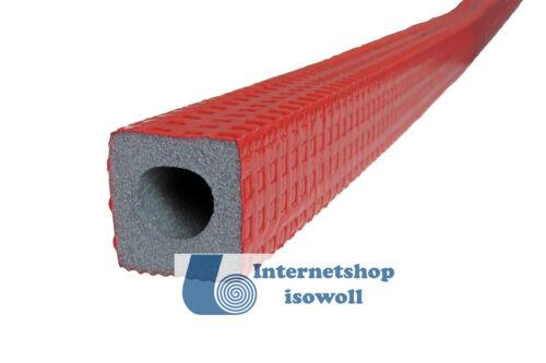 Rohr 15mm je 2 x 1 Meter Dicke 9mm Rohrisolierung Dämmhülse rot eckig