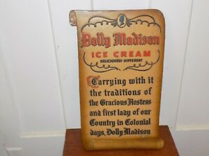 Vintage Dolly Madison Ice Cream Composite Embossed Sign