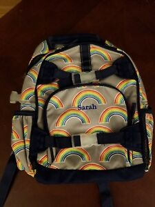 New Pottery Barn Rainbow Book Bag School Bag Quot Sarah Quot Grey